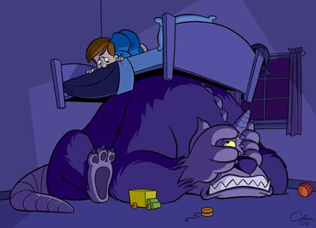 Дети боятся темноты