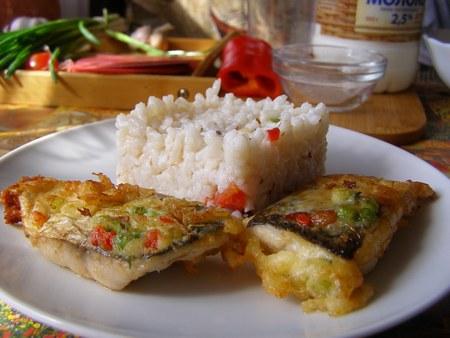 Жаренная рыба в кляре с рисом - пошаговый рецепт приготовления пеленгаса