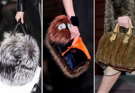 Меховые сумки 2015 года