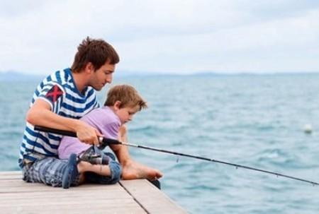 Рыбалка с папой