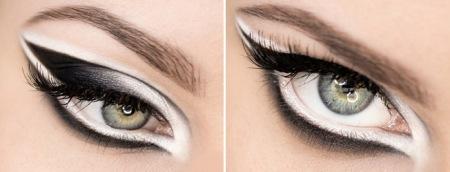 Черно-белый макияж