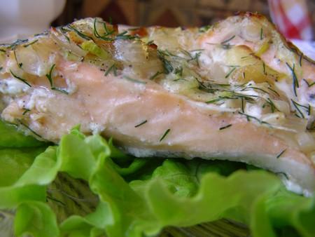 Лосось запеченный в духовке с овощами - мой рецепт с фото