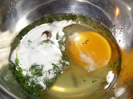 Яйцо и остальные ингредиенты