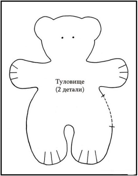 Выкройки игрушки медведь