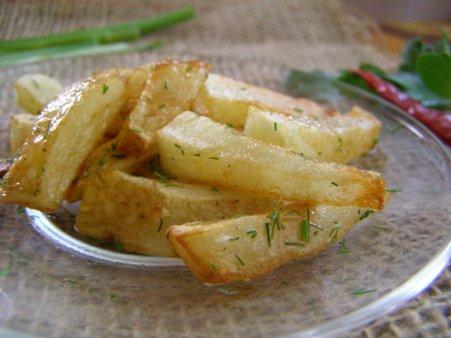 Жареная молодая картошка кусочками