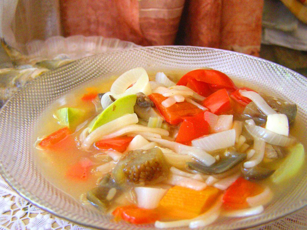 Суп с макаронами и овощами