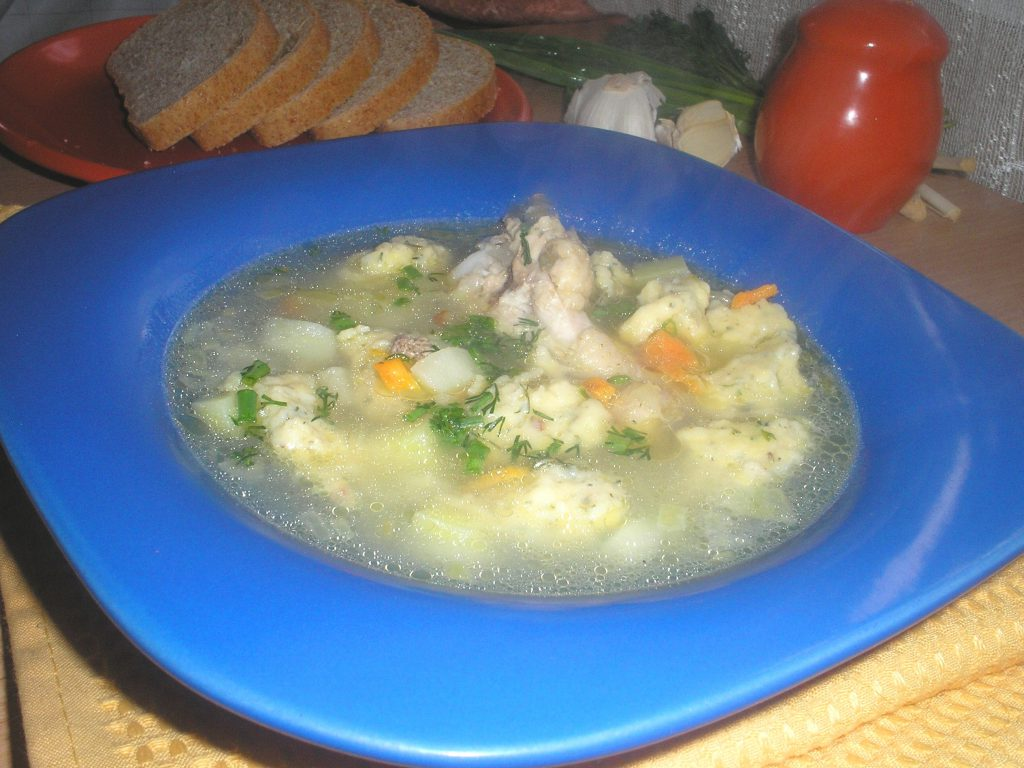 Суп из индейки с галушками
