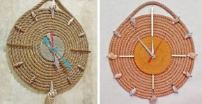 часы из веревки