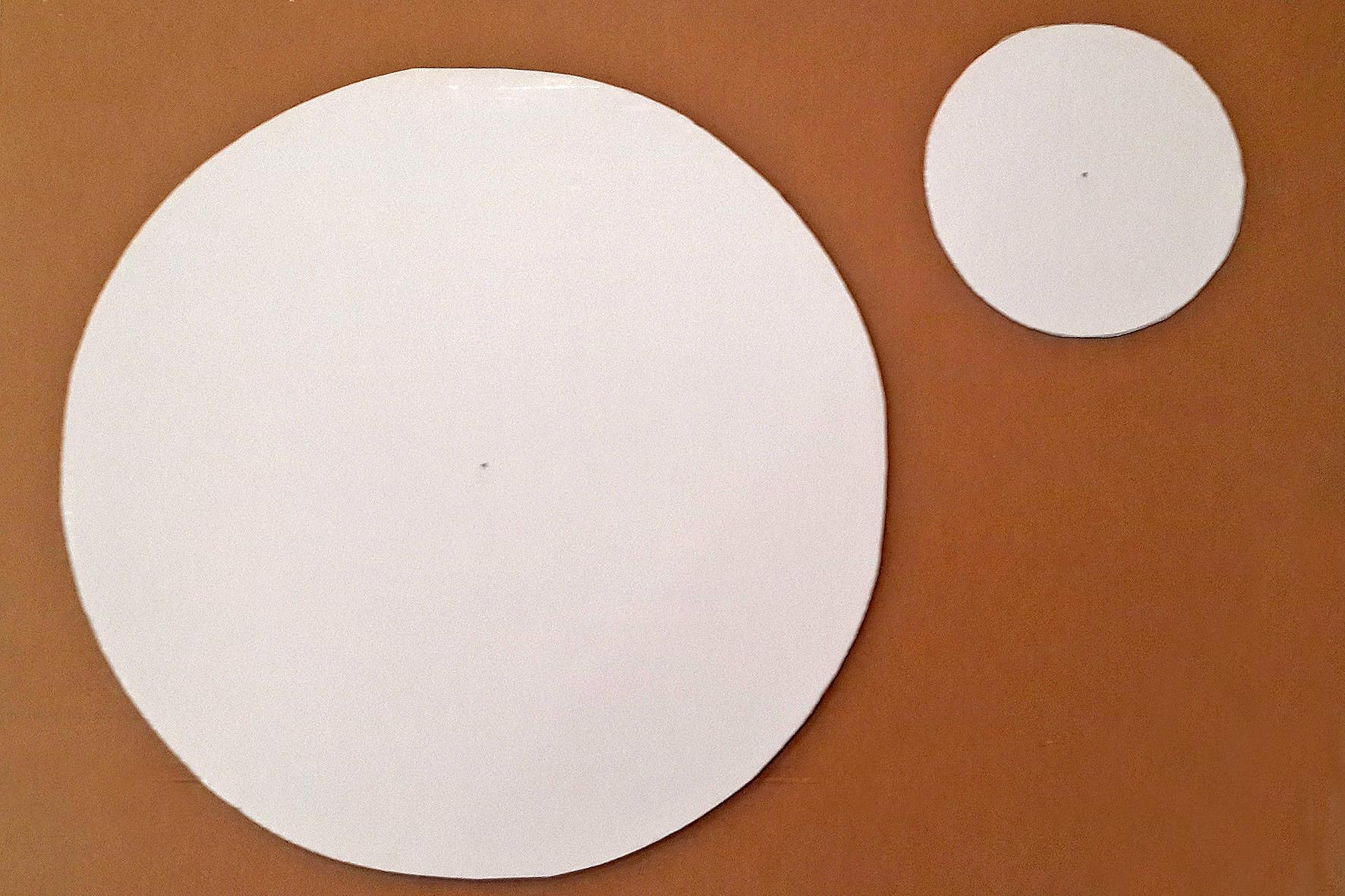 круги из картона