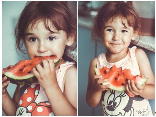 Девочка с арбузом