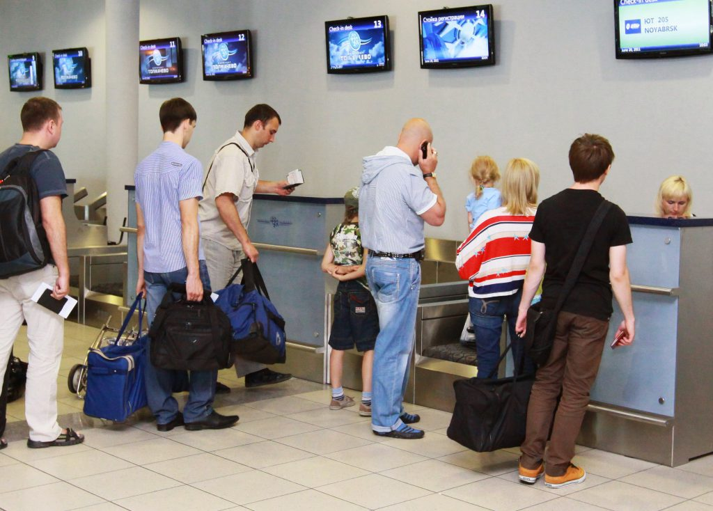 Прохождение регистрации на рейс