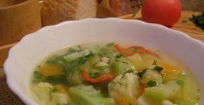 диетический овощной суп для похудения