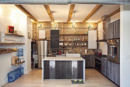 Кухня лофт 5