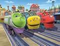Мультфильмы детям - Веселые паровозики из Чагинтона