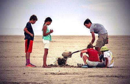 Копают песок
