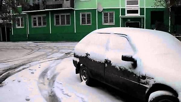 Машина в холода