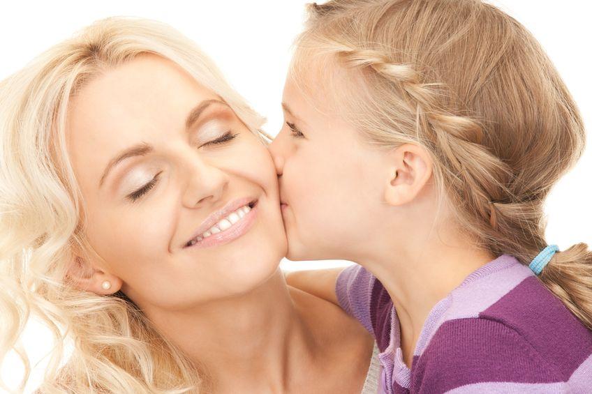 Дочь и мать счастливы