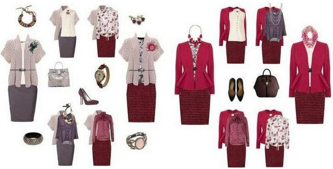Капсульный гардероб в красных и бордовых оттенках