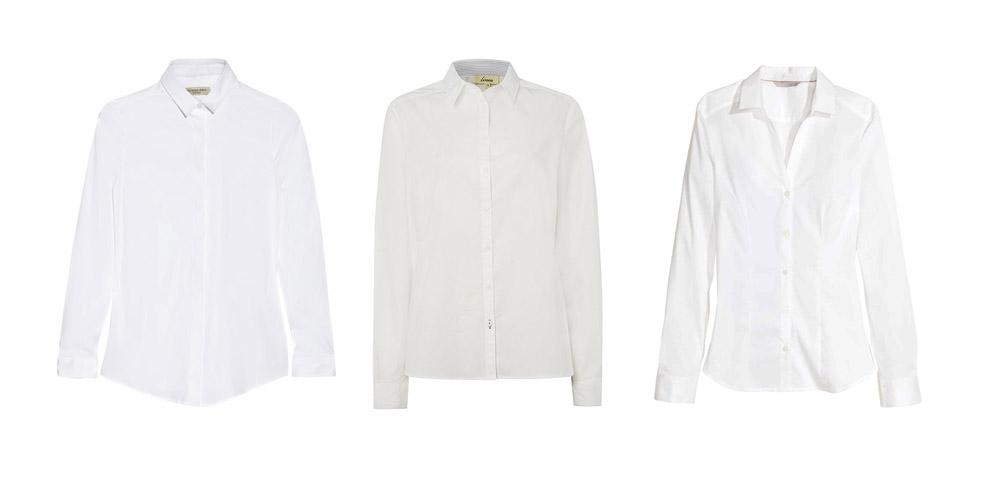 Составление капсульного гардероба удобно начинать с белой блузки или рубашки