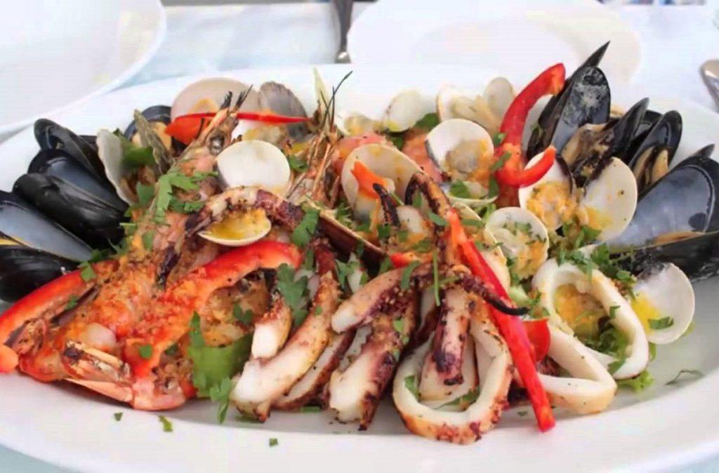 Жаренные морепродукты